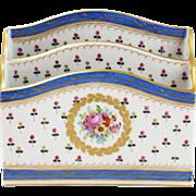 Beautiful Dresden Hand-Painted Floral Porcelain Letter Holder