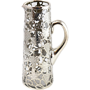 Fine Vintage Sterling Silver Overlay Grape Motif Water Pitcher