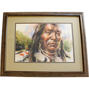 John G. Naylor Original Framed Oil Painting of Native American Man