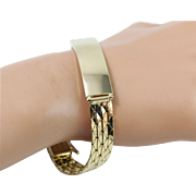 Vintage Fashionable Gold-Filled Bar Link Bracelet