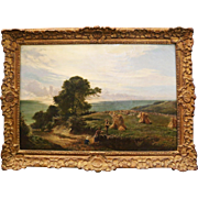 "Beautiful Antique ""Devon, England"" Landscape Painting by Sydney Richard Percy 1860s"
