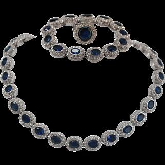 Dazzling High End Fashion Jewlery Set By Designer St. Louis Necklace , Bracelet And Ring Set