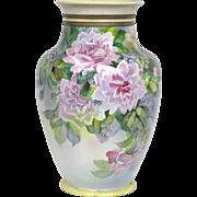 Vintage Large Hand Painted Nippon Floral Vase