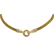 Fine Fred Joaillier 18k Yellow Gold and Diamond Fashionable Rope Double Strand Necklace