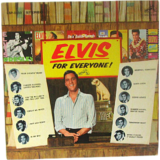 Vintage Vinyl Record Elvis For Everyone! Circa 1965 LSP-3450