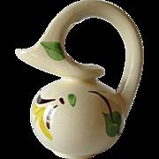 Vintage Purinton Pottery Slipware Pitcher Syrup/Milk Pitcher