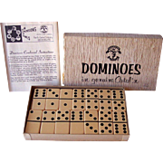 Vintage CATALIN Dominoes Complete Set of 28 Pacific Game Co. Mint in Box with Instructions!