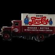 Vintage Lledo Days Gone Die Cast Model: 1935 Pepsi Cola Mack Truck. c. 1994 MIB