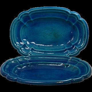 Art Deco Edmond Lachenal Platters Circa 1925