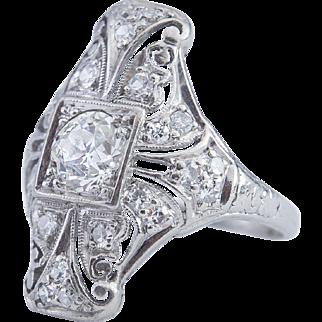 Original Platinum Art Deco/Nouveau ring circa 1910-20
