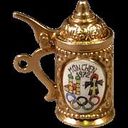 1972 Olympic Beer Stein set in 8 Karat Gold