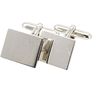 Vintage Swank Silver Plated Cufflinks