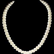 "Vintage 6.5mm Cultured Pearl Necklace 17.5"""
