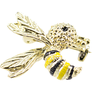 Vintage 1970's Gerry's Bumble Bee Pin/Brooch