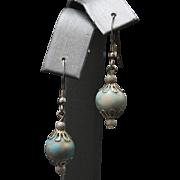 Light Turquoise Sterling Silver Dangle Earrings