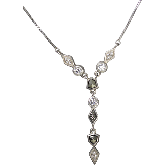 Judith Jack Sterling Silver Swarovski Marcasite and Crystal Necklace