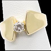 .25ct Diamond Engagement Wedding Ring Euro Shank HEAVY 14k 7.0g