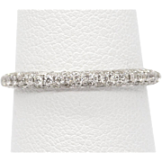 .50ctw Pave Diamond Band Ring 14k Size 6.5 Made in USA, Engagement Ring, Wedding Ring, Bridal Sets