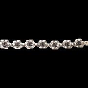 Vintage Danecraft Felch Co. Sterling Silver Bracelet Romantic Rose Design