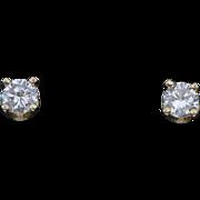 0.30ctw F SI1 Diamond Stud Earrings in 14K Gold