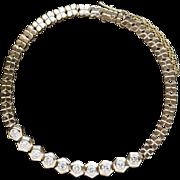 "Vintage 1.0ctw 14K Gold Clover Chain Bracelet 7.25"""
