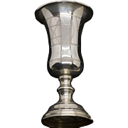 "Sterling Silver Kiddush Cup 3 7/8"" Tall Judaica"