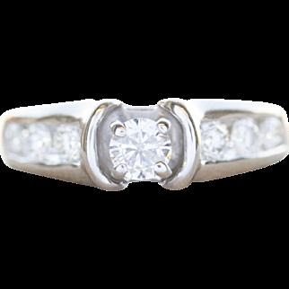0.80ctw Diamond Channel Set Comfort Fit Engagement Wedding Ring 18k