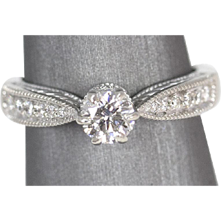 .71ctw G VS2 Diamond Engagement Ring Crown 14k White Gold
