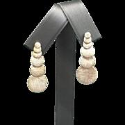 Jorge Revilla Sterling Silver Matte Disc Dangle Earrings