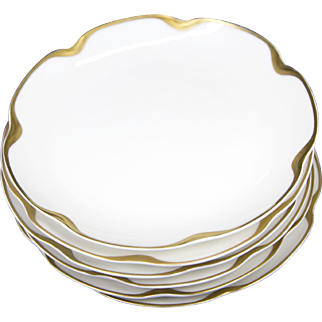 Set of 6 Haviland Limoges France Silver Anniversary Small Plates