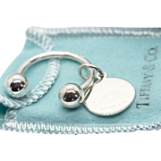 Tiffany & Co. Sterling Silver Key Chain and Charm
