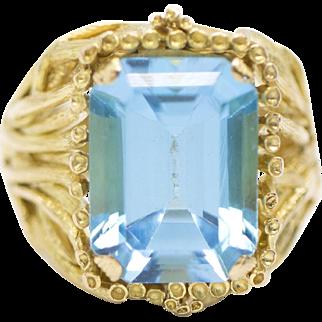 14.58ctw 18k Blue Topaz Yellow Gold Ring
