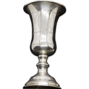 Large Sterling Silver Kiddush Cup Judaica