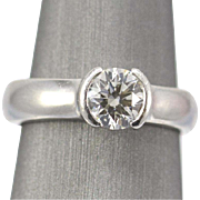 1.01ct Diamond H/VS2 Excellent Platinum Ring Size 6.5
