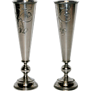 Pair of Russian Silver Kiddush Cups c.1910