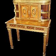 Louis XV Style Inlaid Desk with Ormolu Mounts