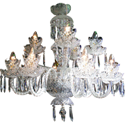 Cut Glass 12 Arm Waterford Dressed Crystal Chandelier