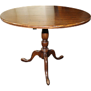 Good Quality Georgian Style Mahogany Tripod Tilt-top Circular Occasional Table