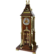 19th c. Arts & Crafts Church Style Clock Dated 1886