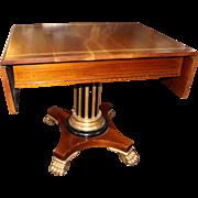 Quality Regency Style Mahogany & Gilt Sofa Table