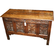 Antique Oak Coffer Charles II c.1670