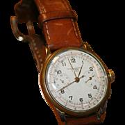 Vintage 18k Chronographe Suisse Gents Wristwatch