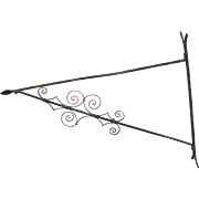 Very Large Antique Georgian Wrought Iron Wall Mounted Bracket