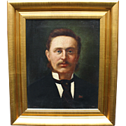 Fine Portrait Oil on Canvas by George Harris (1855-1936)