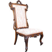 Carved Mahogany 19th c. Victorian Nursing Chair