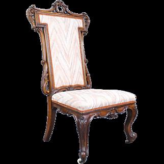 Carved Mahogany 19th c. Victorian Nursing Chair