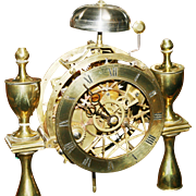 Very Fine Regency Brass Domed Skeleton Clock