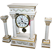 Franklin Mint Empress Josephine French Portico Garniture Clock Set