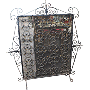 Quality Old Wrought Iron Fire Guard Screen