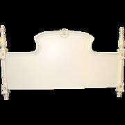 Carved Cream Louis XV Style Headboard